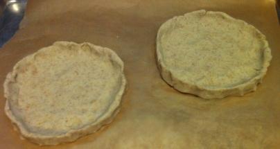 Base Memela shells before baking.